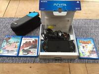 PS Vita wi-fi with games, memory and accessories