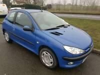 Peugeot 206 1.4 petrol 60.000 miles 12 months mot free warranty £1295