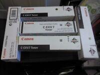 CANON C-EXV 7 GENUINE ORIGINAL LASER TONER CARTRIDGES X5
