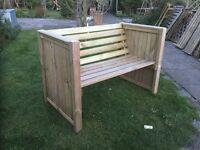 Garden Bench, new, built.