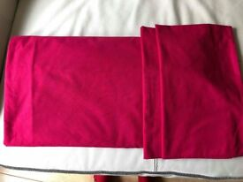1 Plain Wine/Burgundy Double Duvet Set