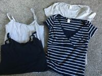 4 breast feeding tops size S H&M