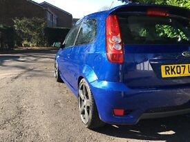 FORD FIESTA ST 2.0 2007 PERFORMANCE BLUE LOW MILES GRAPHITE ALLOYS 65K MOT MARCH 2018 13 MONTHS