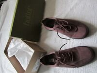 Ladies Hotter damson shoes, comfort concept nubuck, lace UK Size 5.5 Tone - Tonex, brand new / never