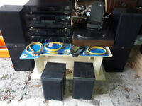 Fully integrated Stereo System with CD, amplifier, record and tape player