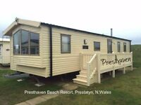 PRESTHAVEN BEACH RESORT: Haven: Prestatyn: Wales: 3-bed static caravan for holiday lets