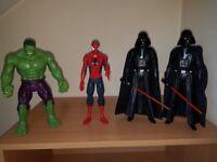 Big figures - marvel and star wars