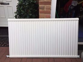 Single sided radiator white 1280mm by 700 mm used but works fine with wall brackets