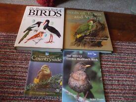 4 WILD BIRD BOOKS