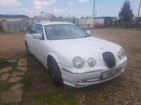 White S Type Jaguar