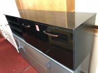 2 door black gloss TV unit