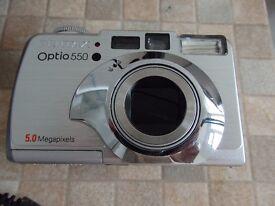 Pentax Optio 550 digital camera and accessories