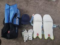 Cricket Equipment Kit - Pads, Helmet, Gloves and Carry Bag
