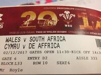 Wales v Springboks ticket