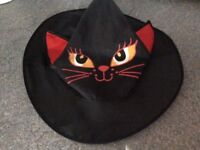 Girls Halloween Cat Witches Hat Age 1-3 Years