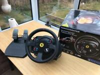 Thrustmaster Ferrari t300 steering wheel and gaming chair