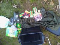 Fishing Box of assorted tricks Camping storage etc
