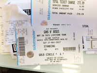 1no GOLD CIRCLE A, Ticket for Guns N' Roses, Slane on Saturday