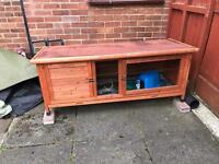Guinea pig / Rabbit Hutch with cover and accessories