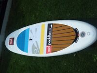 """""""RED"""" Snapper Child and small persons Inflatable Stand Up Paddleboard. 9'4"""" long x 27"""" wide."""