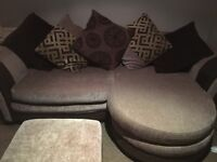 Beautiful brown DFS 3 piece sofa - urgent sell needed