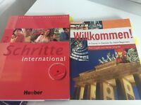 German course books (Schritte and Willkommen)