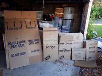Variety of Moving Boxes (small, medium, large and wardrobe)