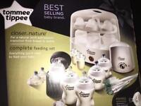 BRAND NEW TOMMY TIPPEE COMPLETE FEEDING SET WHITE