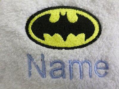 Batman Design Kapuzen Handtücher Bademäntel und Personalisierte Geschenk