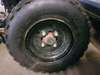"10"" quad front wheels"