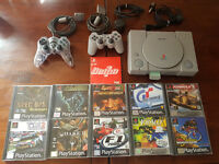 Sony Playstation 1 With Box - 10 Games