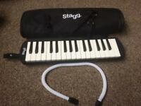 Stagg Melodica with breathing pipes and bag