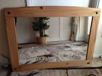 OVER MANTLE Farmhouse Style Wall Mirror