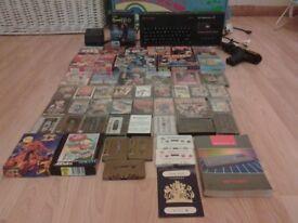 ( FREE POST ) zx spectrum sinclair + 50 games + joy stick + gun and passport
