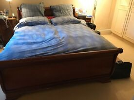 Wooden Sleigh Bed 'In So To Bed'
