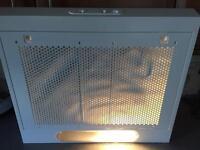White cooker hood