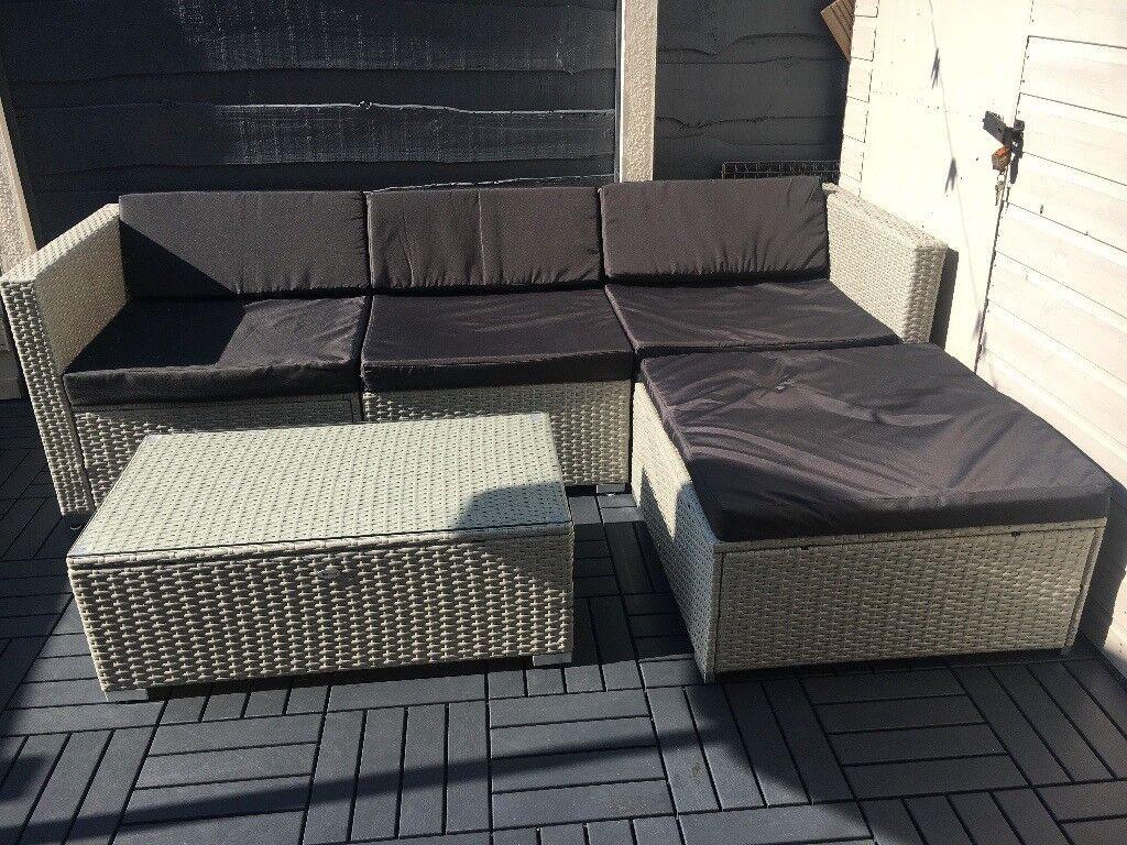 Rattan Garden Furniture Wicker Conservatory Outdoor Sofa