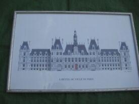 L'Hotel de Ville de Paris Print