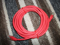 Ethernet cables x 3, Red, Green, & Cream/White RJ45 RJ-45
