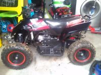 Black and red rebo 49cc quad