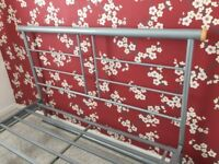 Double bed frame in very good condition – Metallic/ silver
