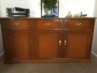 STAG three drawer sideboard and matching TV corner unit