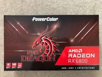 NEW & SEALED ✅ PowerColor AMD Radeon RX 6800 Red Dragon 16GB GDDR Graphics Card