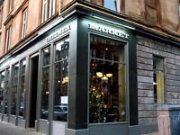 Passionate, skilled assistant manager wanted for fantastic new Finnieston restaurant
