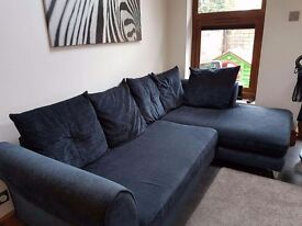 Navy Blue Corner Sofa, excellent condition from dfs.