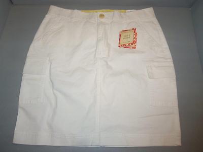 Womens Twill Cargo Skirts (Dockers Women's Twill Stretch Soft Cargo Skirt SIZES! NWT White )