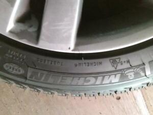 """17"""" BMW 5 SERIES WINTER  PACKAGE ,5X120 ALUMINUM RIMS 225/50R17 MICHELIN USED ALMOST NEW WINTER TIRES FOR SALE"""