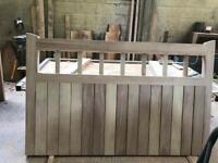 Iroko hardwood driveway gates.