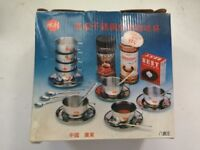 NEW Stainless Steel Coffee Cup Set pack of 8