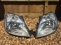 Set of headlights for Ford Fiesta 2002, Mk 5, LHD, EUROPEAN